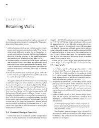 Small Picture Chapter 7 Retaining Walls Seismic Analysis and Design of