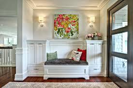 entry foyer furniture. Foyer-bench-in-transitional-entry-with-glass-panel- Entry Foyer Furniture