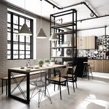Dining Room Designs: Industrial Dining And Kitchen - Dining