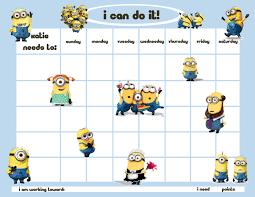 incentive charts personalized children s reward chore chart minion men