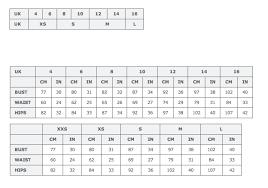 Topshop Uk Size Chart 57 Prototypical Size Chart Topshop