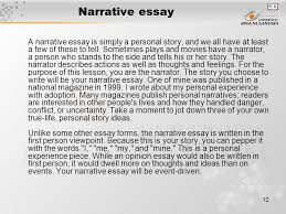 module composing essay part matakuliah g writing iv  12 narrative essay a narrative essay is simply a personal story and we all have