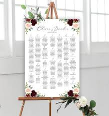 Guest Seating Chart Template Printable Wedding Seating Chart Template Up To 400 Guests