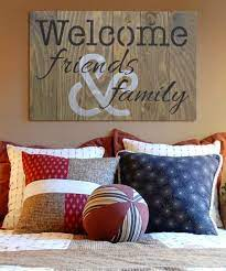 welcome friends family wall sign