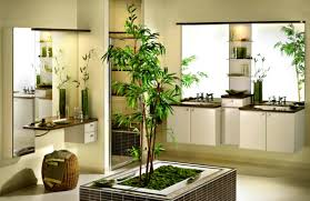 bathroom, Marvelous Bathroom Model With Contemporary Vanity And Simple  Mirror Design Near Good Bathroom Plants