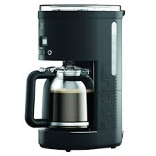 bodum 11754 01us bistro coffee maker programmable machine with borosilicate glass carafe 51 ounce 12 cup black