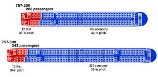 boeing 757 seating charts