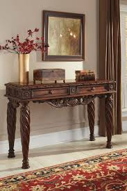 north s dark brown sofa table