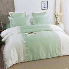 simply shabby chic mint green vintage romantic victorian lace feminine s cotton twin full queen size bedding sets