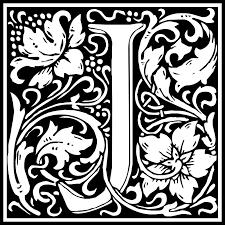 Free Clipart William Morris Letter J Kuba