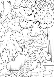 Kek Super Grote Kleurplaat In The Forest Kleurplaten Eksters