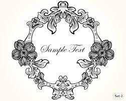 vintage frame design png. Vintage Floral Frame Vector Set-2 Design Png