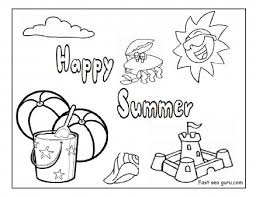 Small Picture Printable happy summer beach coloring pages Printable Coloring