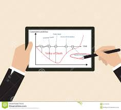 Business Goal Chart On Tablet Stock Vector Illustration Of