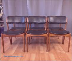 set of six erik buch for o d m bler od 49 teak and leather dining