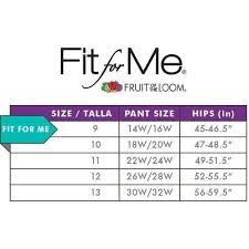 Fruit Of The Loom Lady Fit Size Chart Fit For Me By Fruit Of The Loom Womens 3 Pack Seamless Boy Shorts Invisible