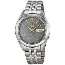 Seiko 5 Automatic Grey Dial Stainless Steel Men's Watch SNKL19 in 2020 |  Watches for men, Mens watches for sale, Mens watches stainless steel