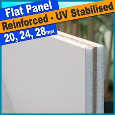 white upvc flat door panel reinforced 750mm x 750mm ready to trim to size
