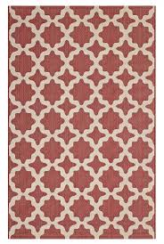 image is loading moroccan trellis area rug in red and beige