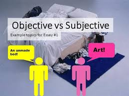 objective subjective description examples authorstream