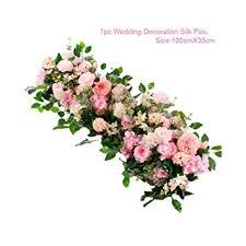 Frigg 1M Artificial Rose Flower Row Wedding Decor ... - Amazon.com