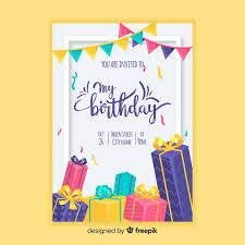 Birthday Invitation Party Birthday Invitation Vectors Photos And Psd Files Free
