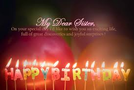 Happy Birthday Wishes For Sister My Emotions