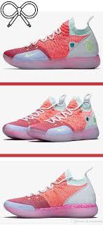 Kd Shoe Designer Pink Purple And Blue Designer Basketball Shoes That