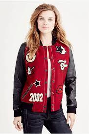 true religion uk sweetheart true religion varsity jacket jet black jackets womens