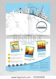 Two Page Brochure Template Two Page Brochure Template Or Flyer For Travels Stock Images