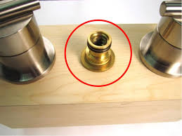 once the spout has been removed the spout adapter should be visible to remove