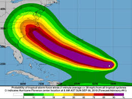 Image result for national hurricane center florence today