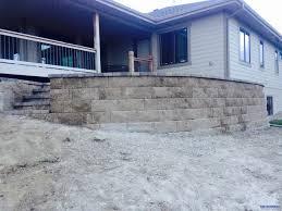 raised paver patio retaining wall 4