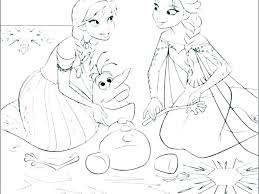 Disney Princess Coloring Pages Frozen Elsa And Anna Page Free Princ