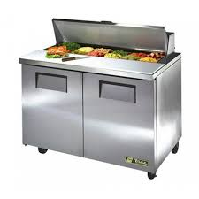 true tssu 48 12 hc refrigerated sandwich prep table unit 48