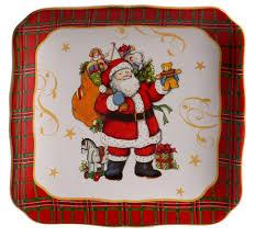 """<b>Тарелка</b> десертная квадратная Certified Int. """"<b>Винтажный Санта</b> ..."""