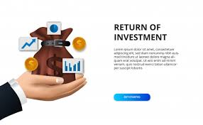 Finance Concept Return Of Investment Illustration Money Bag