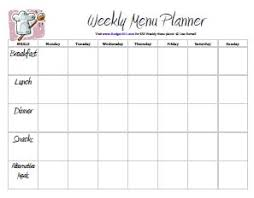 weekly menue planner weekly menu planner downloads budget101 com