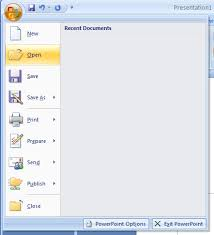 microsoft office presentations open a presentation presentation operations introduction