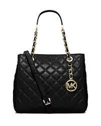 MICHAEL Michael Kors Susannah Small Quilted Tote Bag, Black ... & Susannah Small Quilted Tote Bag, Black Adamdwight.com