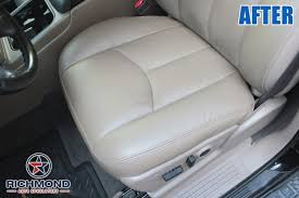2003 2007 chevy silverado lt ls z71 leather seat cover driver bottom gray