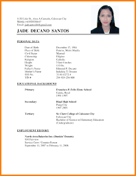 Remarkable Resume Format For Students In The Philippines Also 6