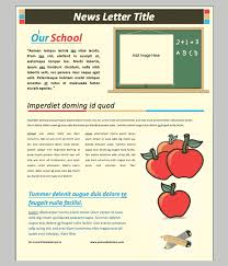 School Newsletter Template For Word Word Newsletter Template 31 Free Printable Microsoft Word Format
