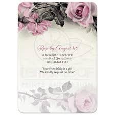 B Day Invitation Cards 75th Birthday Invitation Vintage Pink Grey Rose