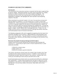 Business Plan Summary Examples Retail Template Resume Templates
