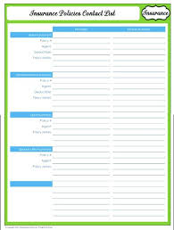 Family Contact List Template Get Organized Insurance Agent Contact List Printable Family