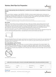Victaulic Groove Dimension Chart Stainless Steel Pipe Preparation Manualzz Com