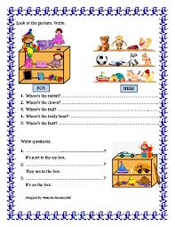 Prepositions Of Places Worksheets Worksheets for all | Download ...