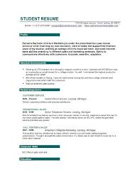 Resume Objective Examples For Students Resume Corner