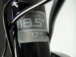 Trek Bike Fit Chart Trek Frame Size Actual Virtual Wth Bike Forums